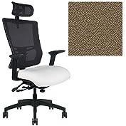 Office Master Affirm Collection AF589 Ergonomic Executive High Back Chair - AR11 Armrests - Black Mesh Back -...