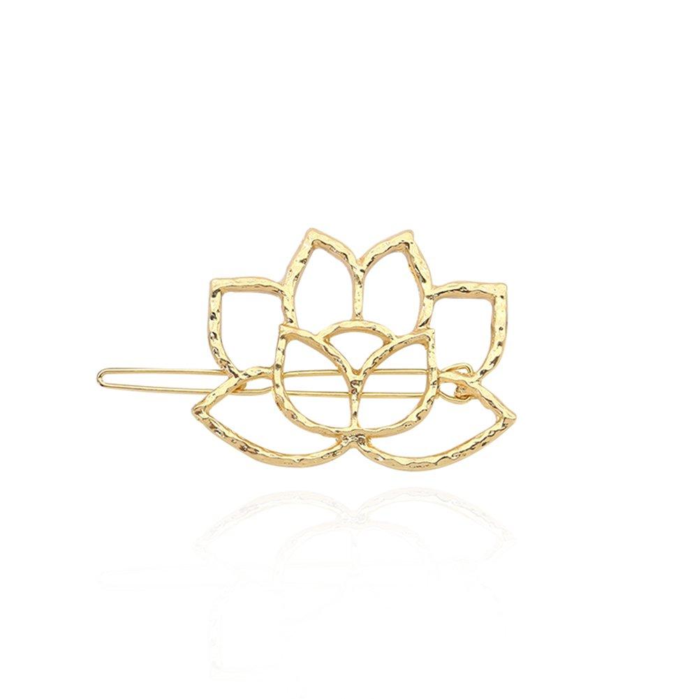 Ruikey Metal Lotus fille jolie décorée épingle à cheveux Barrette clip en épingle à cheveux