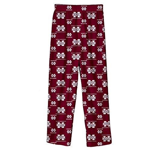 (NCAA by Outerstuff NCAA Mississippi State Bulldogs Youth Boys Team Color Printed Pant, Maroon, Youth Medium(10-12))