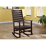 Monarch Specialties High Slat Back Rocking Chair, 43-Inch, Cappuccino