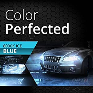 OPT7 Blitz 55w HID Xenon Kit 5x Brighter - 4x Longer Life - All Colors and Sizes Simple DIY Install - 2 Yr Warranty - Bulbs and Ballasts [H11 H8 H9 - 8K Ice Blue Light]