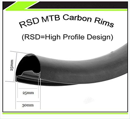 SUPER LIGHT 29er 27.5er XC AM DH hookless Mountain 650B Carbon Rims Symmetry Asymmetric MTB UD Matte Rims (29er 3025) (Rims Carbon 29er)