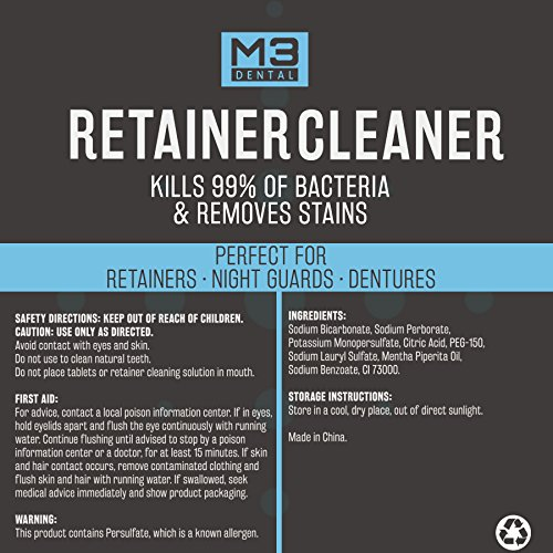 Premium Dental Denture and Retainer Cleaner Tablets (3 Month Supply) by M3 Dental (Image #4)