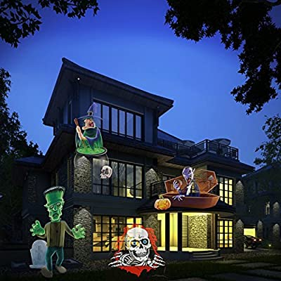 KOOLSEN Christmas Lights Projector - 2017 Upgrade Version 16 Patterns LED Projector Landscape lamp Remote Control and Waterproof Perfect for Halloween or Christmas