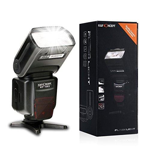Blitzgerät Canon K&F Concept® PRO E-TTL KF-882 Canon Blitz,Blitzlicht Canon,ETTL Blitz,Master Speedlite für Canon,Blitzgerät für Canon EOS Kamera mit Masterblitzfunktion