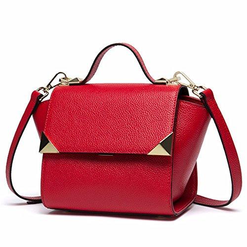 2018 nuevo bolso de hombro, bolso de cuero bolso de mano, sesgar en bolsa,Black De Gules
