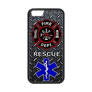 Firefighter Medical Rescue Theme Protective Soft TPU Case Cover for iPhone 6 4.7 by runtopwell