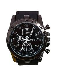 Lowpricenice(TM)Stainless Steel Luxury Sport Analog Quartz Modern Men Fashion Wrist Watch (black)