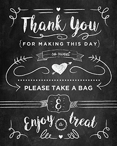 Kraftystuff Candy Buffet Sign Thank You for Making This Day so Sweet - Candy Bar Sign Poster Print 8