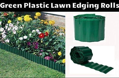 Garden Flexible Willow Lawn Edging Rolls Border Lawn Edge Set of 4 x 15cm