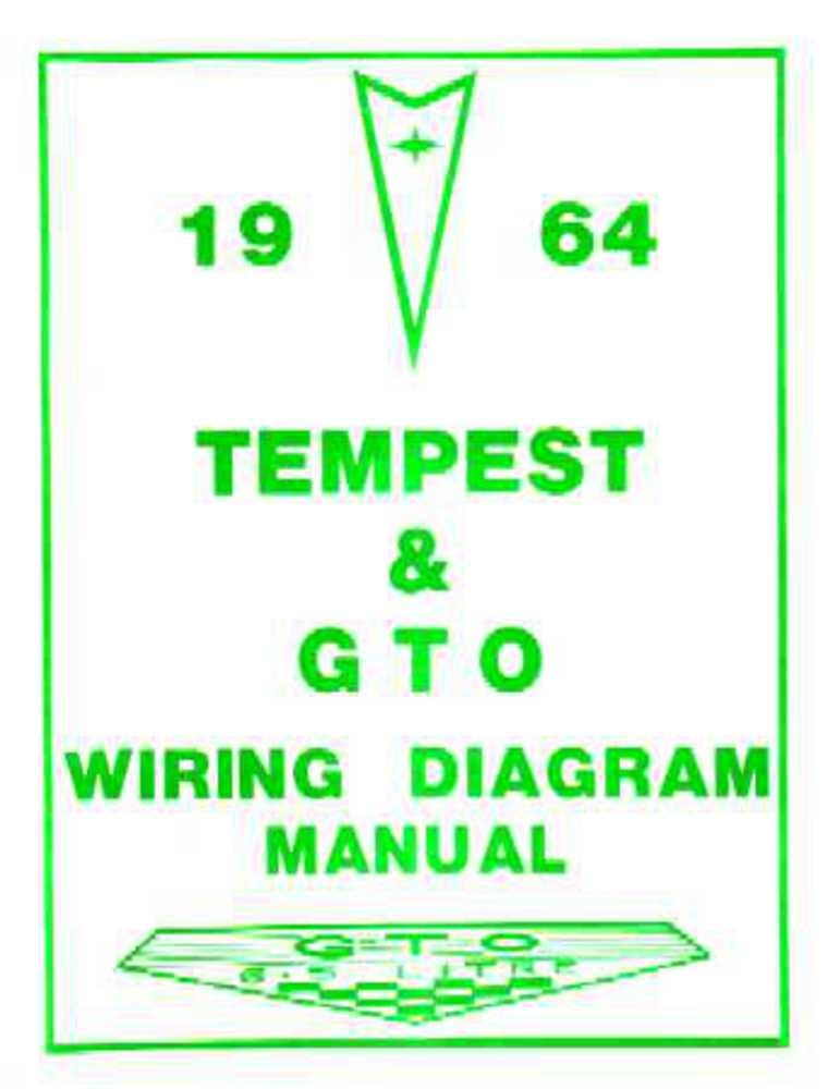 bishko automotive literature 1964 pontiac gto tempest electrical wiring diagrams schematics manual book oem 66 Pontiac GTO Wiring-Diagram