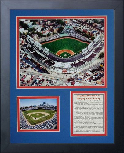 (Legends Never Die Wrigley Field Aerial Framed Photo Collage, 11x14-Inch)