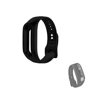 Hensych® Silicona Reemplazo Correa de pulsera deporte pulsera banda correas para TomTom Touch Smart reloj, color negro: Amazon.es: Deportes y aire libre