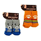 Pawliss Dog Shoes Socks Paw Protecters Small (2 Pairs)