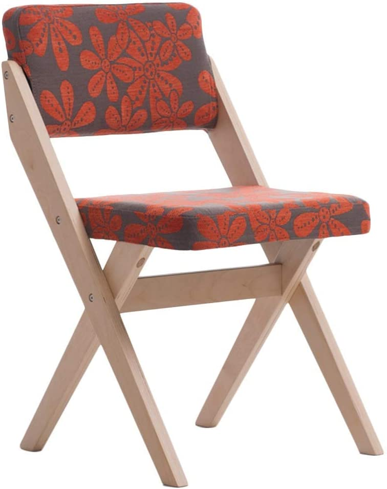 color : A Chair Casual Nordic Style Solid Wood Frame Burlap Fabric Washable Thickening Stable Home
