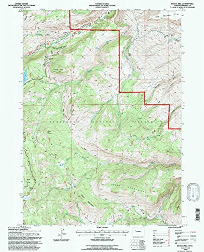 YellowMaps Fossil Hill WY topo map, 1:24000 Scale, 7.5 X 7.5 Minute, Historical, 1991, Updated 1997, 26.7 x 21.7 in - Paper
