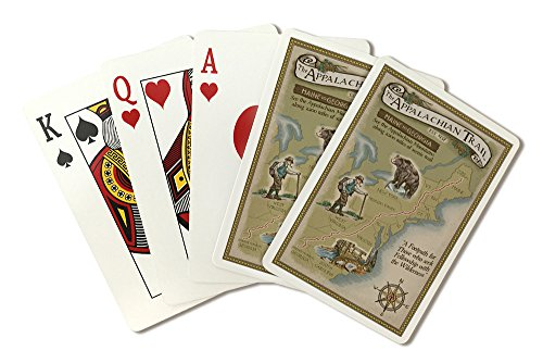 Appalachian Trail Map (Playing Card Deck - 52 Card Poker Size with Jokers)