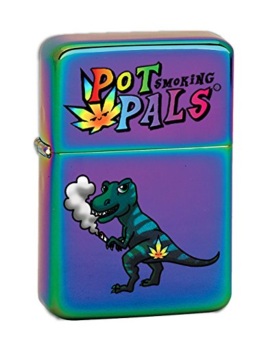 (Hat Shark Pot Smoking Pals T-Rex Vector KGM Thunderbird Vintage Lighter - Prizm Finish)
