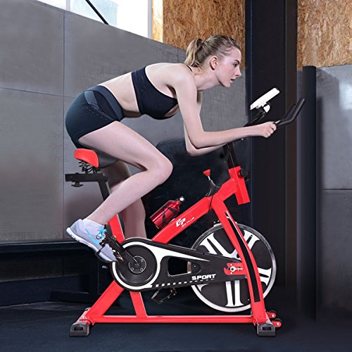 Gymax Cardio Fitness Stationary Exercise Bike, Cycle Trainer Indoor Flywheel Cardio Fitness Bicycle by Gymax (Image #9)