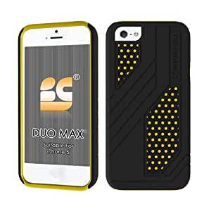 Beyond Cell Duo Max Case Suitable for iPhone 5/5S with Free Screen Protector - Retail Packaging - Black/Yellow