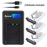 ARCHE NP-BX1/M8 NPBX1 <3 Pack> Battery & LCD Single Charger Kit for [Sony Cyber-shot DSC-RX100 DSC-RX100 II DSC-RX100M II DSC-RX100 III DSC-RX100 V DSC-H400 DSC-HX50V DSC-HX300 DSC-HX400 DSC-RX1]