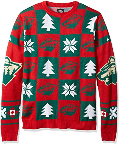 NHL Minnesota Wild Unisex Patches Ugly Crew Neck Sweater