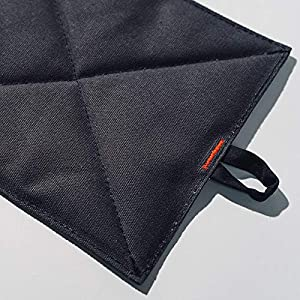 """Caldo Canvas Kitchen Pot Holders – Insulated 100% Cotton Canvas Hot Pads for Oven – Heat Resistant – 2-Pack, 7"""" x 9…"""
