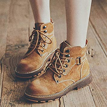 Shukun Botines Primavera y otoño Martin Boots Primavera y otoño Estudiantes Personalidad Botas Cortas Botas de Moto Zapatos para niños: Amazon.es: Deportes ...