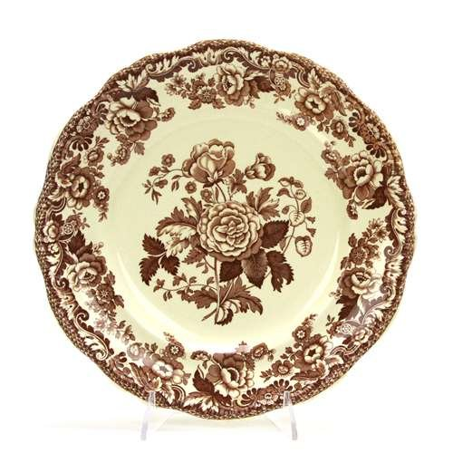 Marina, Brown by Spode, China Dinner Plate