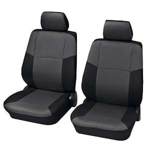 Fundas de asiento de coche, Conjunto de asientos delanteros, Peugeot 807, antracita gris negro
