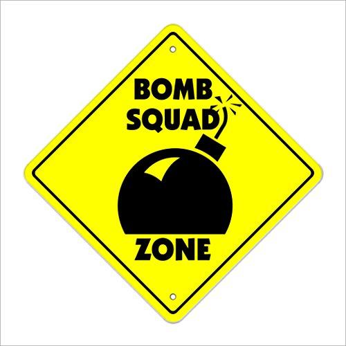 (Bomb Crossing Decal Zone Xing | Indoor/Outdoor | 4