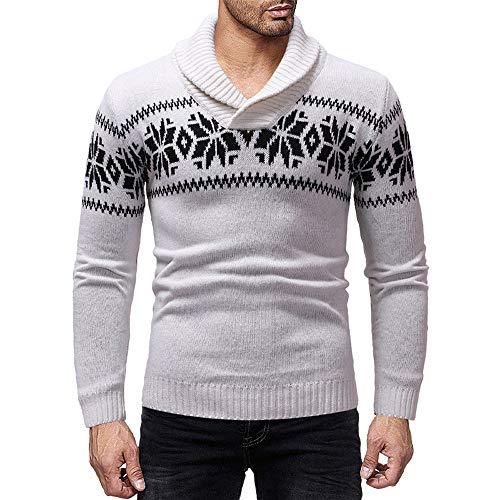 tute Sportiva Natale Lungo Casual Felpe In Di Maglioni Moda Con Bianco Cappuccio Uomo cardigan Maglione Cotone feixiang Uomo wzapZ