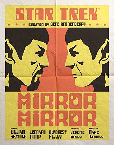 Classico Star Trek Mirror Mirror Mr. Spock (Juan Ortiz Art) Sci-Fi TV Television Show Poster Print 11x14