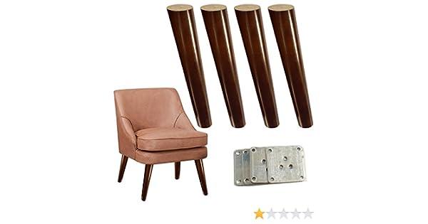 4 patas de madera para sofá de 30,5 cm, acabado en nogal, repuesto ...