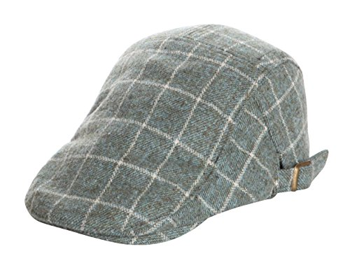 Home Prefer Kids Toddler Boys Hat Woolen Newsboy Cap Vintage Tartan Ivy Gatsby Driver Sun Cap Aqua Medium