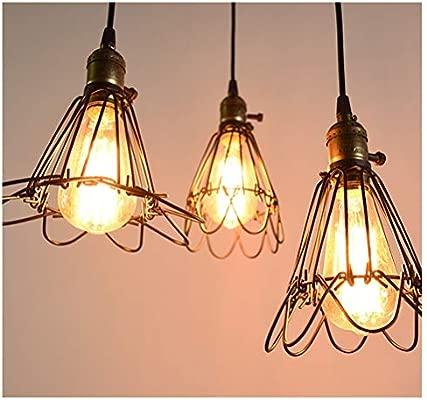 H.L - Lámpara de Techo Colgante de Metal Estilo Retro Edison ...