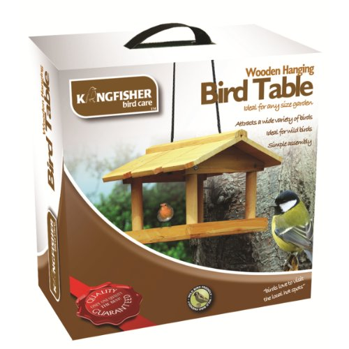 Hanging Wooden Bird Table