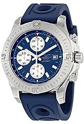 Breitling Colt Chronograph Automatic Blue Dial Blue Rubber Mens Watch A1338811-C914BLORT