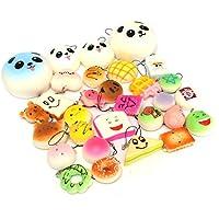 New 18PCS Random Rilakkuma Panda Cupcakes Toasts Buns Donuts Squishy Soft Cell Phone Straps By KTOY