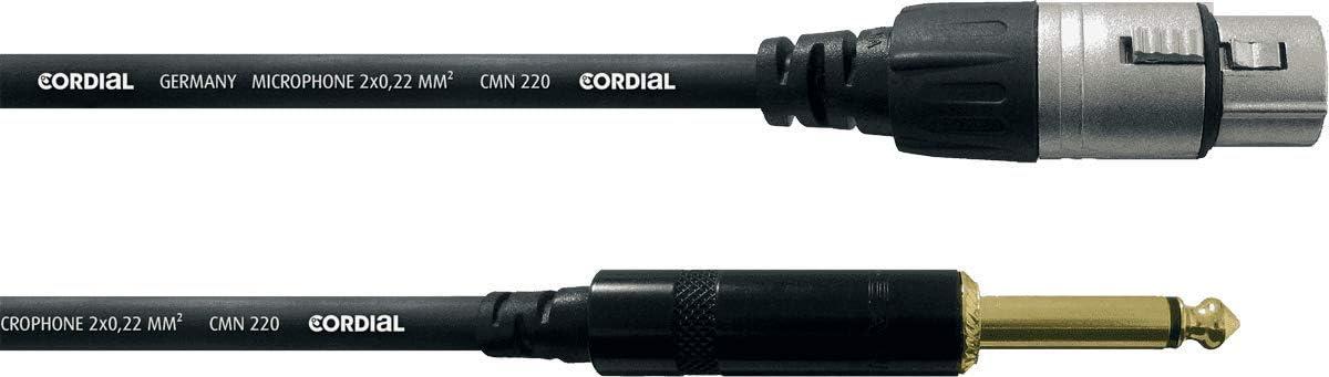 Cordial Xlr Audiokabel Weiblich Mono Buchse 5 M Musikinstrumente