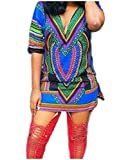 Comfy Women Trend Stylish Short Sleeve Dashiki Blouse T-shirt
