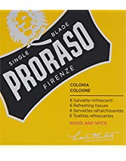 Proraso Refreshing Cologne 6 Piece Tissue Set, Wood/Spice, 0.1 lb.