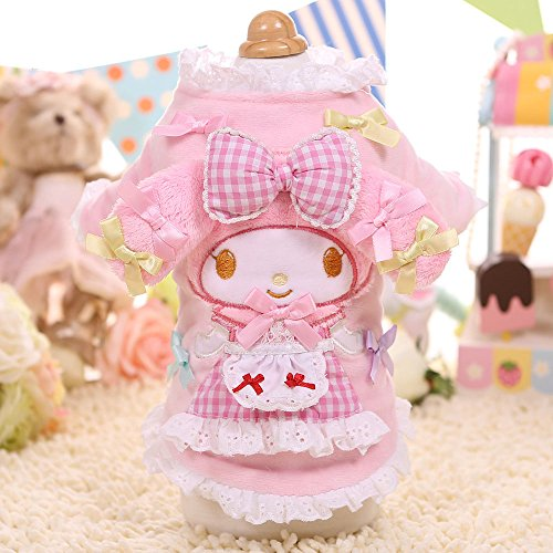 [Chicpaw Dog Clothes Puppy Cat Padded Coat Lovely Melody Hoodie Apparel Chihuahua Costume (XS(Length8.2