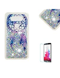 Funyye Glitter Liquid Case for LG V20,Stylish Multi-Coloured Sparkle Quicksand Dream Catcher Design Ultra thin Transparent Shell Case for LG V20,Soft Flexible Silicone Gel TPU Bumper Back Cover Case for LG V20 + 1 x Free Screen Protector