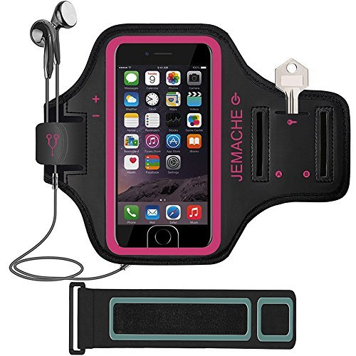 iPhone 7/7Plus Armband, jemache Fingerprint Touch Supported Entrenamiento Gimnasio Running/Ejercicio Brazo Banda caso para...