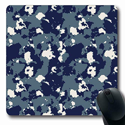 - LifeCO Mouse Pad Seal Blue Army Us Navy Digital Camouflage Abstract Hide Brown Camo Camoflage Combat Dark Dress Design Oblong Shape 7.9 x 9.5 Inches Mousepad for Notebook Computer Mat Non-Slip Rubber