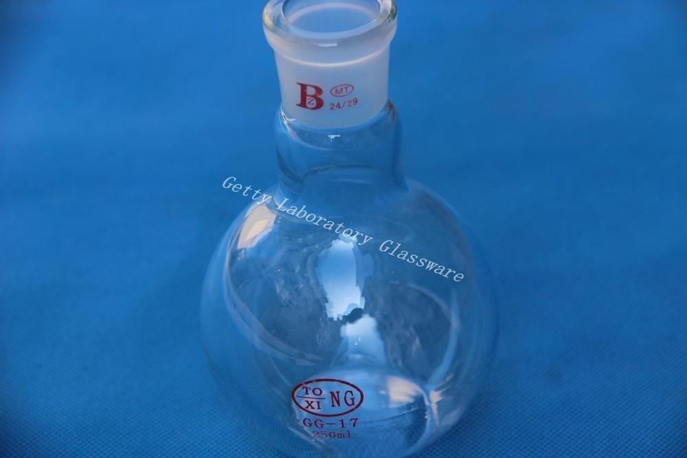 250ml single neck flat bottom flask, heavy wall, with 24/29 joint Beijing Getty Laboratory Glassware Co.