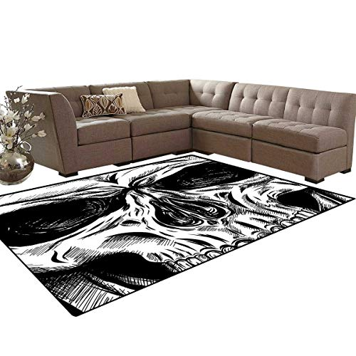 Halloween Kids Carpet Play-mat Rug Gothic Dead Skull