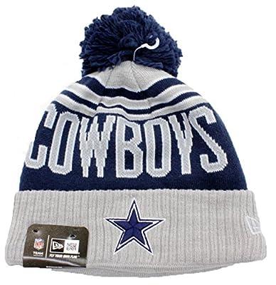 Dallas Cowboys Beanie Hat Authentic NFL Football New Era Winter Blaze Knit Cap Adult One Size Unisex Men & Women Soft Lining Inside (Navy Blue, One Size)