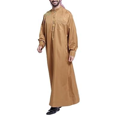 Zhhlinyuan Männer Casual Partei muslimisch Kleid Abaya islamisch ...